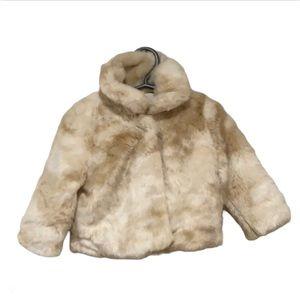 Joe Fresh Tan Faux Fur Jacket - Toddler's Size 2T